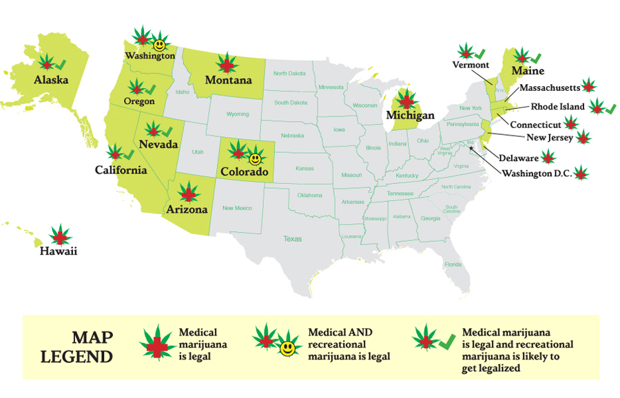 Which States Are Most Likely To Legalize Cannabis CannaSOS - Us states pot map
