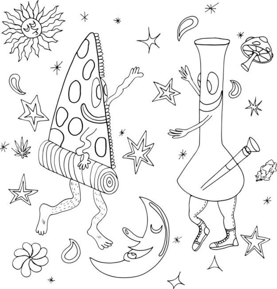 this hilarious coloring book is not only for every stoner but also for medical marijuana doctor - Cannabis Coloring Book