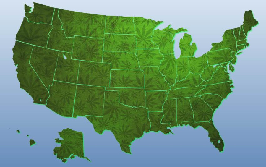 Marijuana Laws And The US Current Weed Map CannaSOS - Us map on weed laws